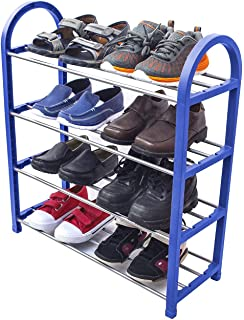 Sorbus Kidu0027s Shoe Rack Junior Organizer Storage U2013 4 Levels For Shoesu2013 Easy  To Assemble
