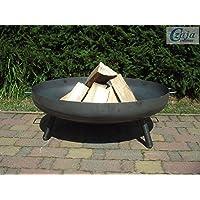 Feuerstelle schwarz Stahl XXL Fire Pit ✔ rund