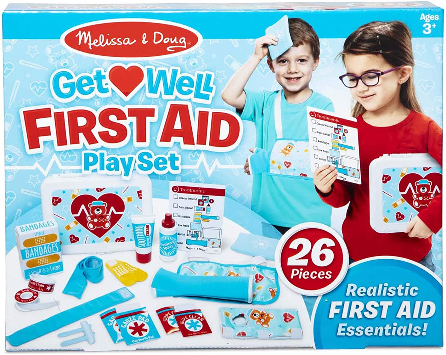 Melissa & Doug Get Well First Aid Kit Play Set (25 Pieces)