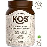 KOS Organic Plant Based Protein Powder – Raw Organic Vegan Protein Blend, 2.2 Pound, 30 Servings (Chocolate)