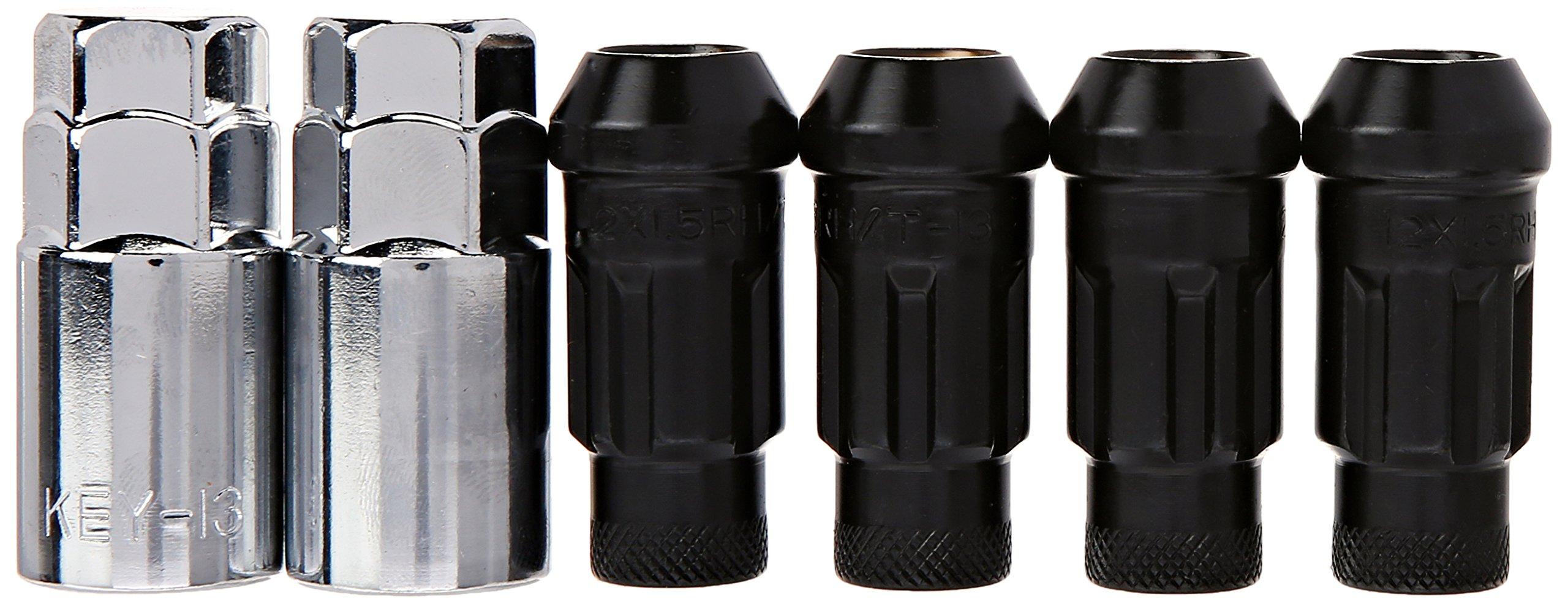 Muteki 32902T Chrome Titanium 12mm x 1.5mm SR48 Open End Locking Lug Nut Set