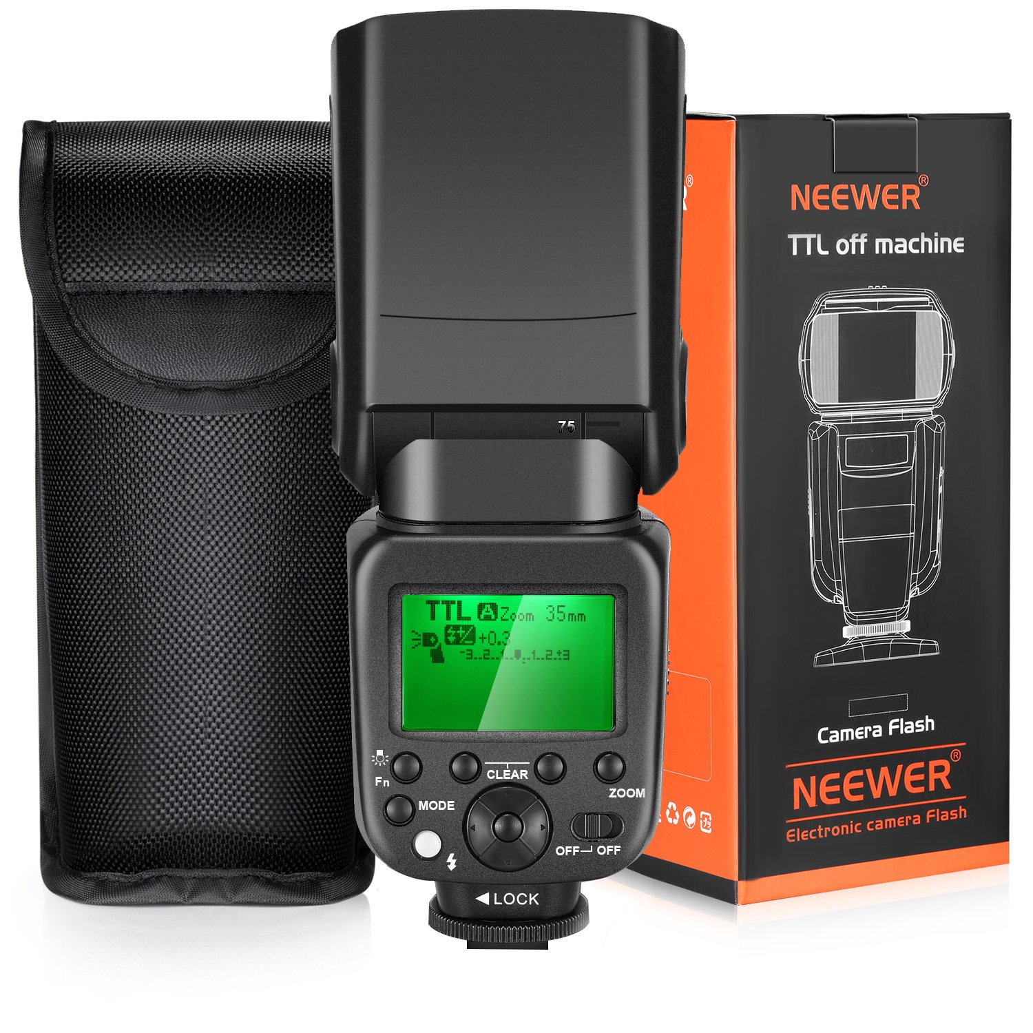 Neewer TTL Flash for Sony HSS 1/8000s GN58 Master Slave Speedlite for Alpha A6000 A6300 A6500 A7 A7R Camera, Integrated 2.4G Wireless (NW630) by Neewer