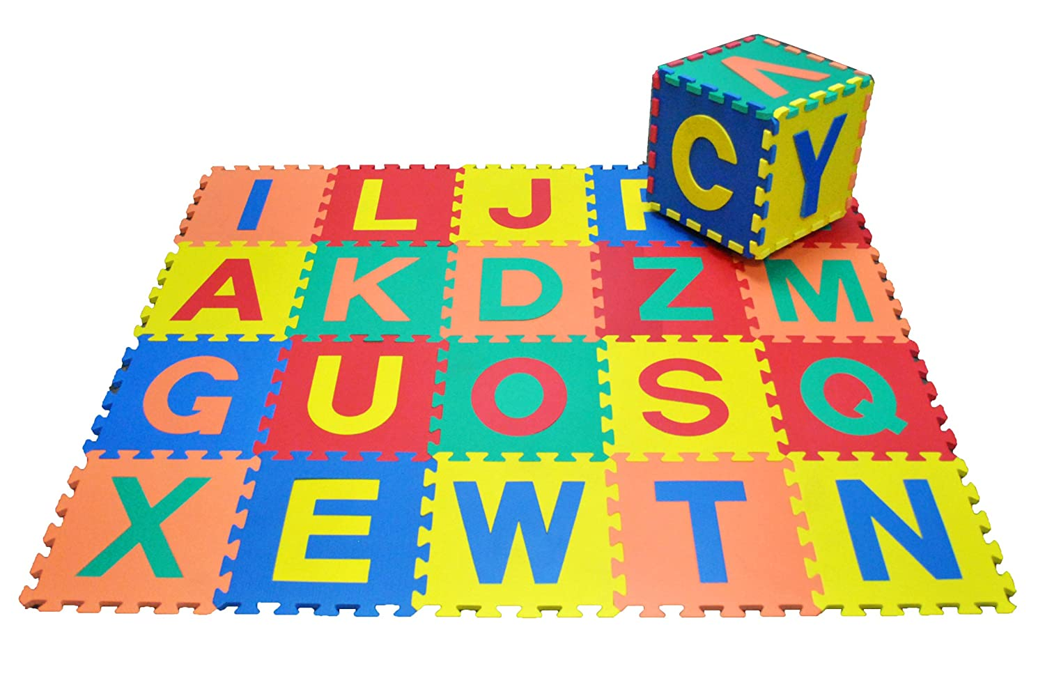 Amazon ewonderworld alphabet letters interlocking foam mats amazon ewonderworld alphabet letters interlocking foam mats a z each tile 12 x 12 x 916 extra thick tiled puzzle play mats baby dailygadgetfo Images