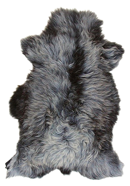 Heitmann langhaariges Heidschnuckenfell grau meliert ca 15 cm 110x70 cm Haarl/änge ca
