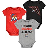 "MLB Newborn Infants""Big Time Fan"" 3 Piece Bodysuit Creeper Set"