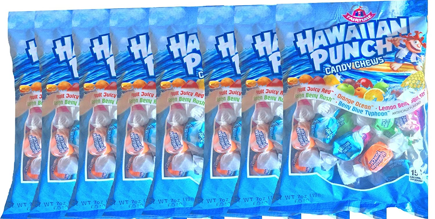 Hawaiian Punch Candy Chews Fruit Candy Perfect Party, Home Candy Snacks Net Wt 7 Oz (8)
