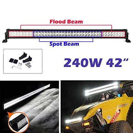 """21"""" 120W CURVED CREE LED WORK LIGHT BAR FLOOD SPOT COMBO DRIVING OFFROAD 4WD SUV"""
