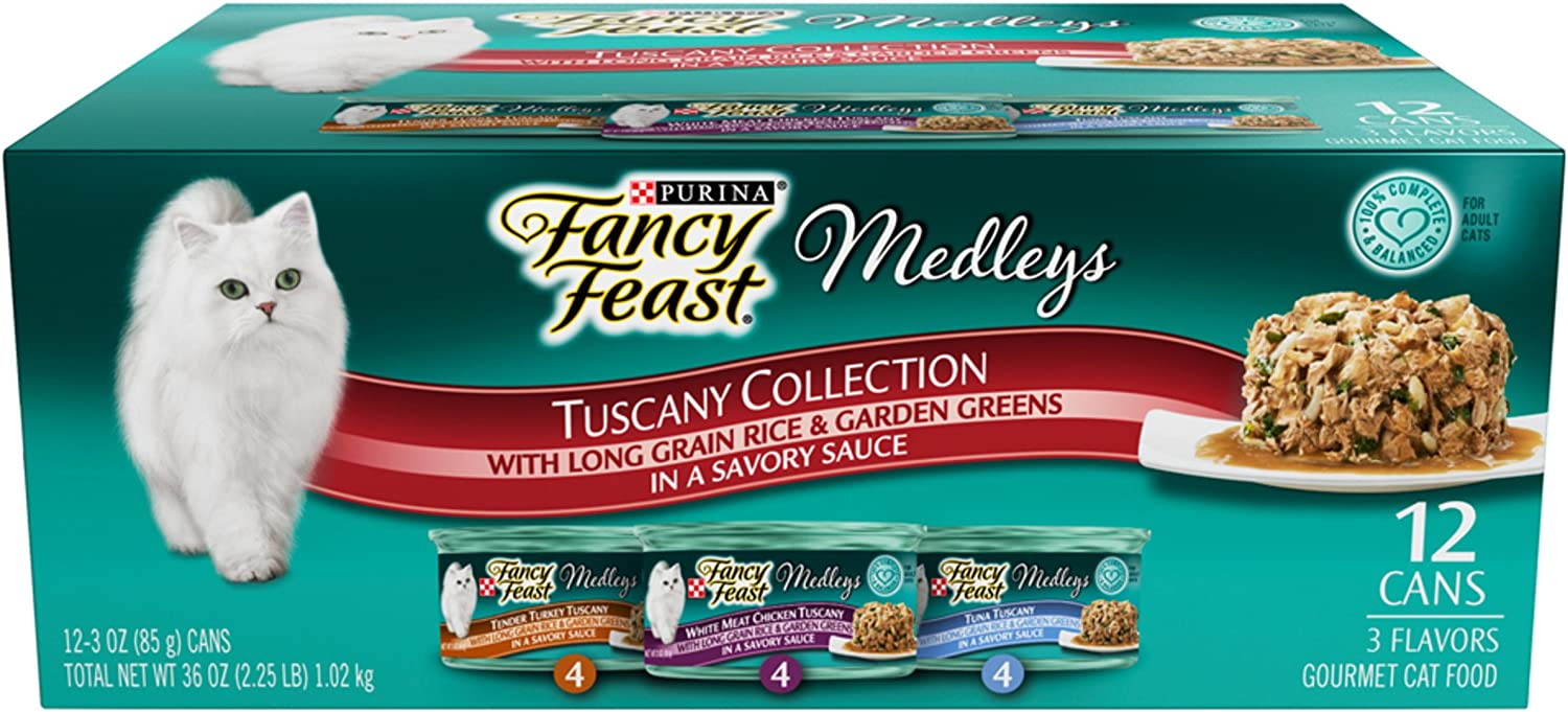 Purina Fancy Feast Medleys Adult Wet Cat Food Variety Pack