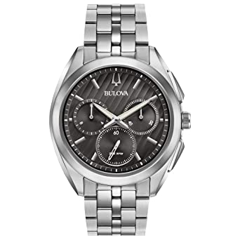 a6f0e8b45 Amazon.com: Bulova Men's 45mm CURV Collection Stainless Steel Chronograph  Watch: Watches