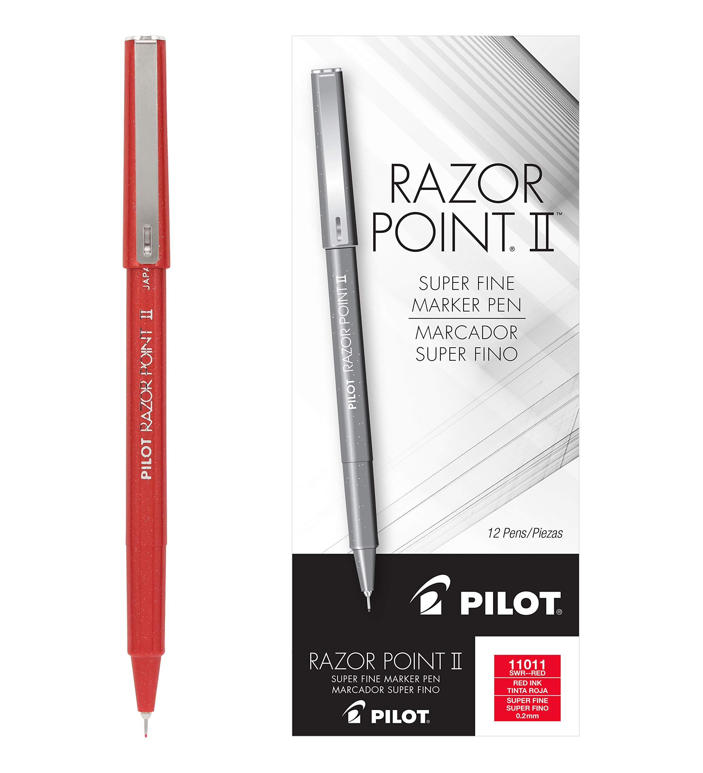 PILOT Razor Point II Fine Line Marker Stick Pens, S [006HUGRE]