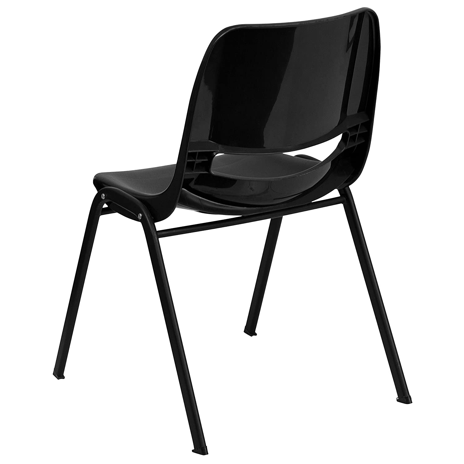 Amazon.com: Flash Furniture HERCULES Series 440 Lb. Capacity Black  Ergonomic Shell Stack Chair With Black Frame And 14u0027u0027 Seat Height: Kitchen  U0026 Dining