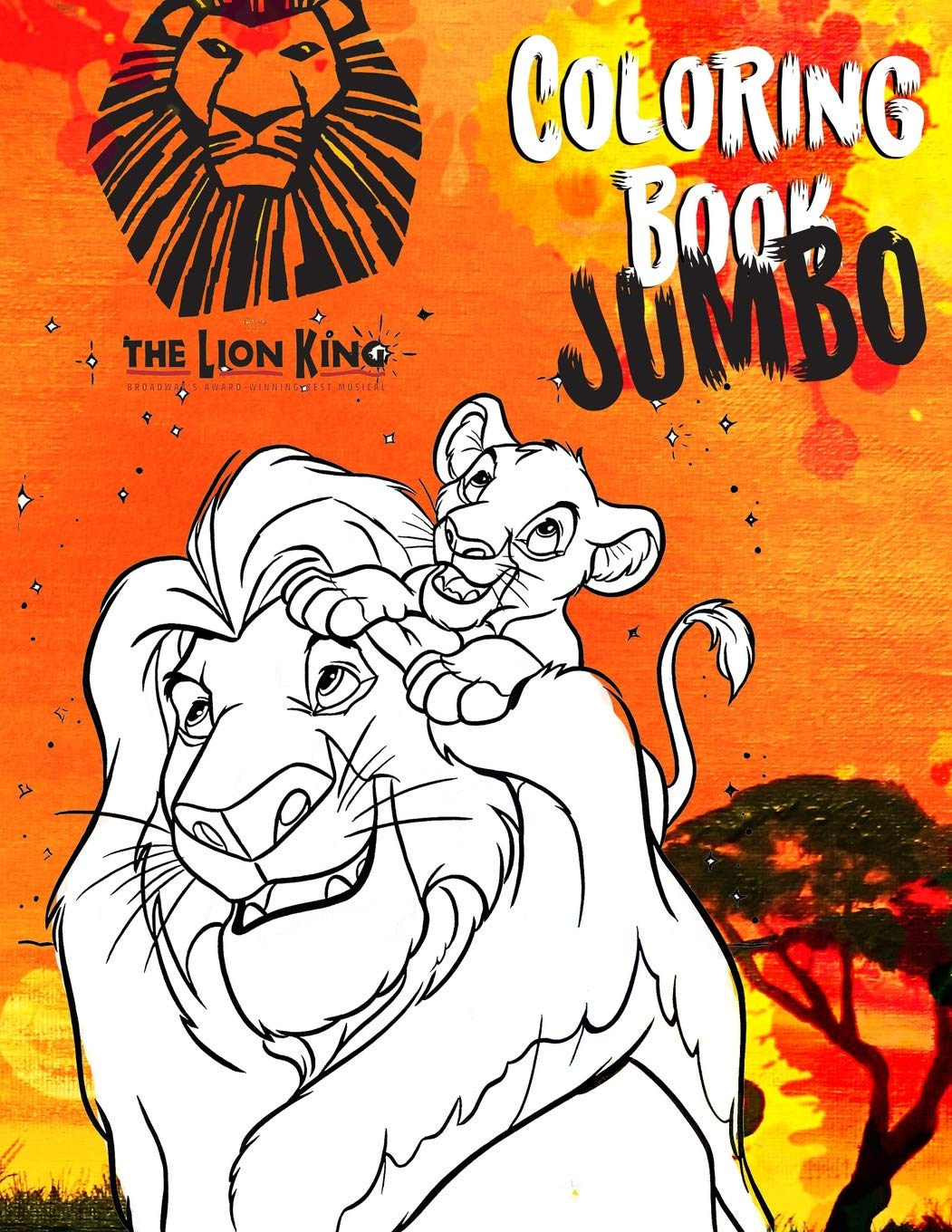 The Lion King Jumbo Coloring Book Great Coloring Book For