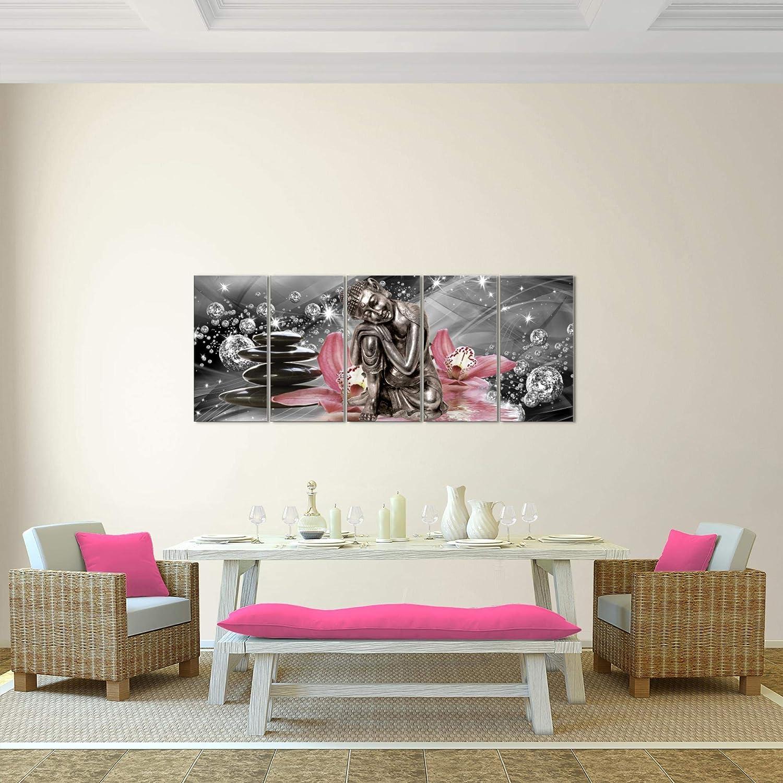 Photo Bouddha orchid/ée D/écoration Murale 100 x 40 cm Toison pr/êt /à accrocher 505312a Toile Taille XXL Salon Appartement D/écoration Photos dart Blanc 1 parties 100/% MADE IN GERMANY