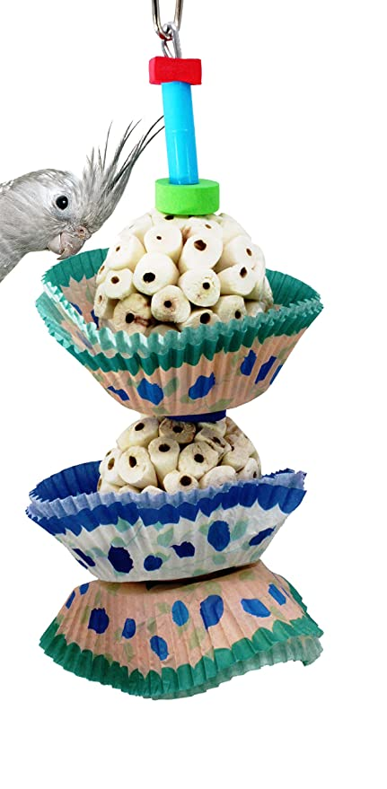 Bonka Bird Toys 1932 2Cake Bird Toy foraging parrot cage toys cages shred cockatiel african grey
