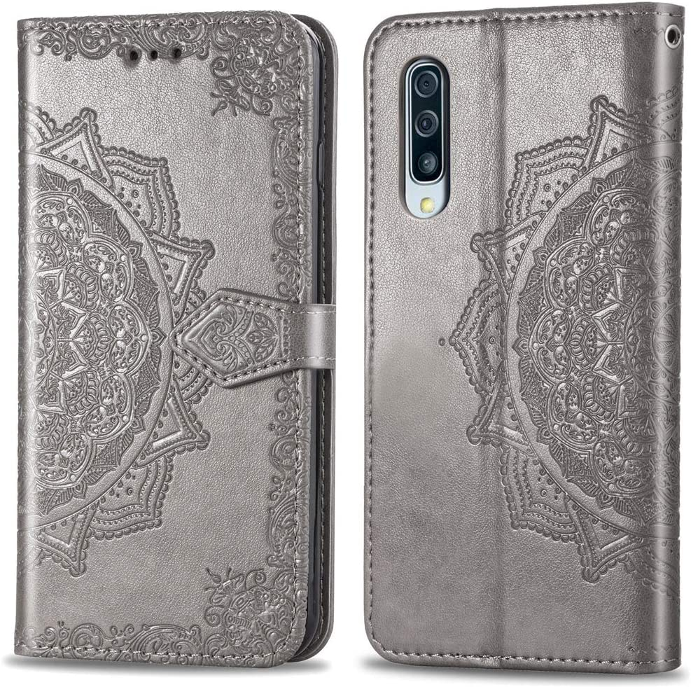 HMTECHUS Samsung A50 case Gifts for Girls PU Leather 3D Effect Color owl Shell Magnetic Clasp Shockproof Flip Card Holder Protective Slim Cover Compatible with Samsung Galaxy A50 Color owl YX