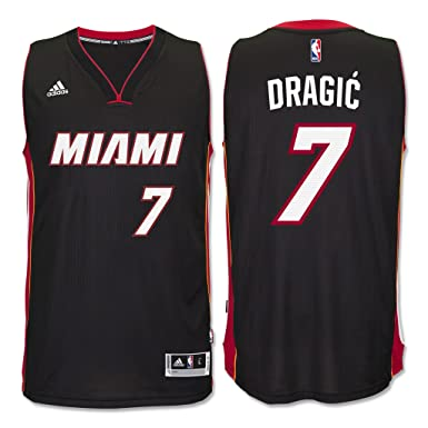 Goran Dragic Miami Heat  7 Black Youth Adidas Swingman Road Jersey (Large  14  b7a78ca63