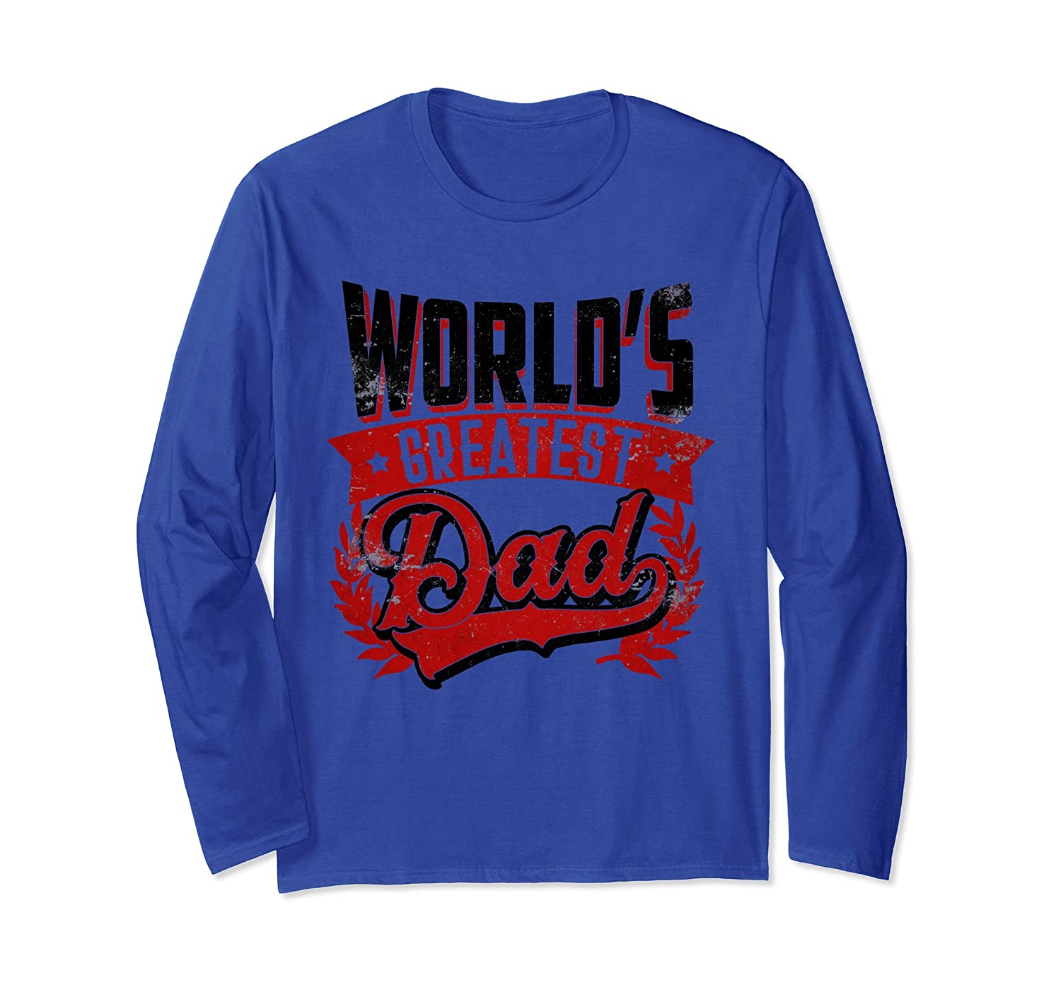 Mens World's greatest Dad - Fathers Day Gift Long Sleeve-AZP