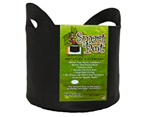 Smart Pots 10-Gallon Smart Pot Soft-Sided Container, Black with Cut handles