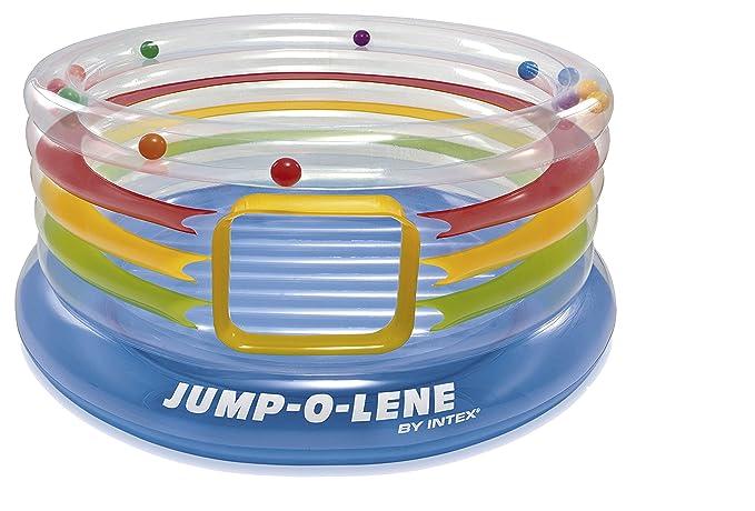 Intex - Saltador hinchable, transparente y con aros, 182 x 86 cm (48264): Amazon.es: Juguetes y juegos