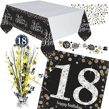 Neu 46 Tlg Tischdeko Set Sparkling Celebration Fur Den 18