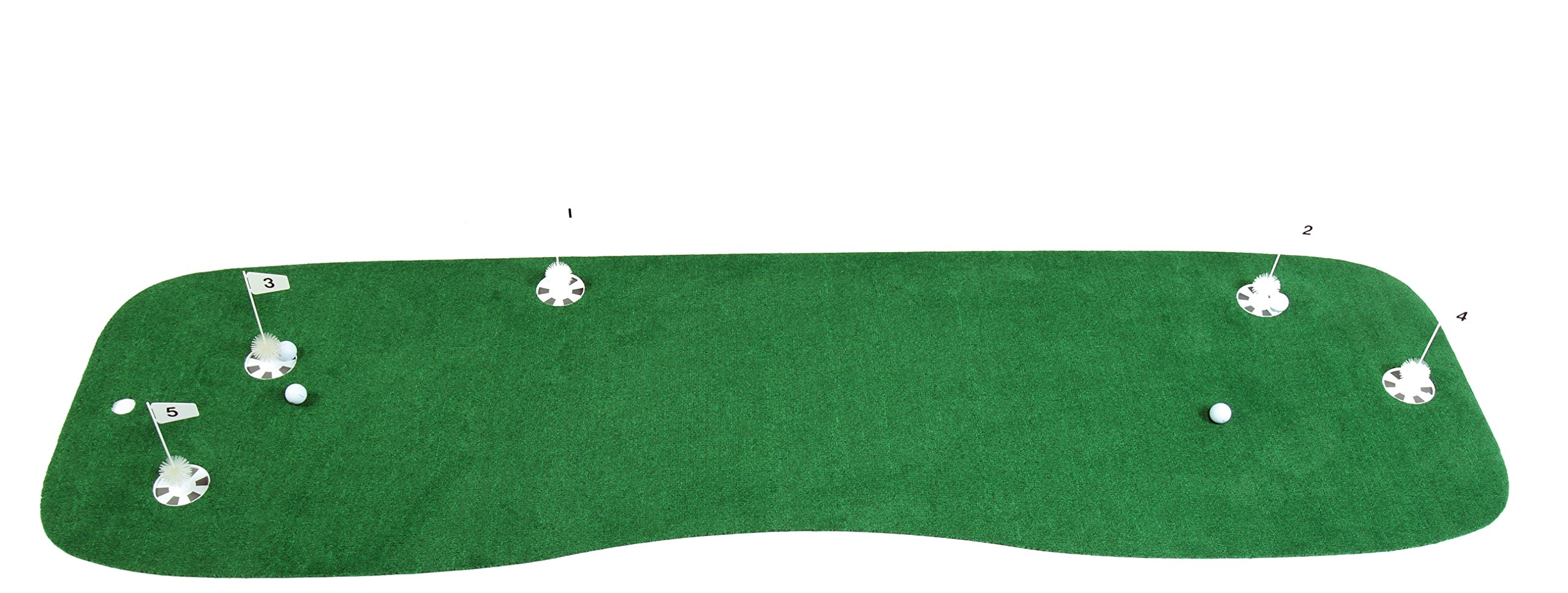 StarPro 10'x3' 5-Holes Pro-Am Professional Practice Putting Green. Realistic Practice of Your Set-Up and Putts All Over the Green. Not One Boring Direction. Indoor/Patio/Poolside. Lower Your Score! by StarPro Greens