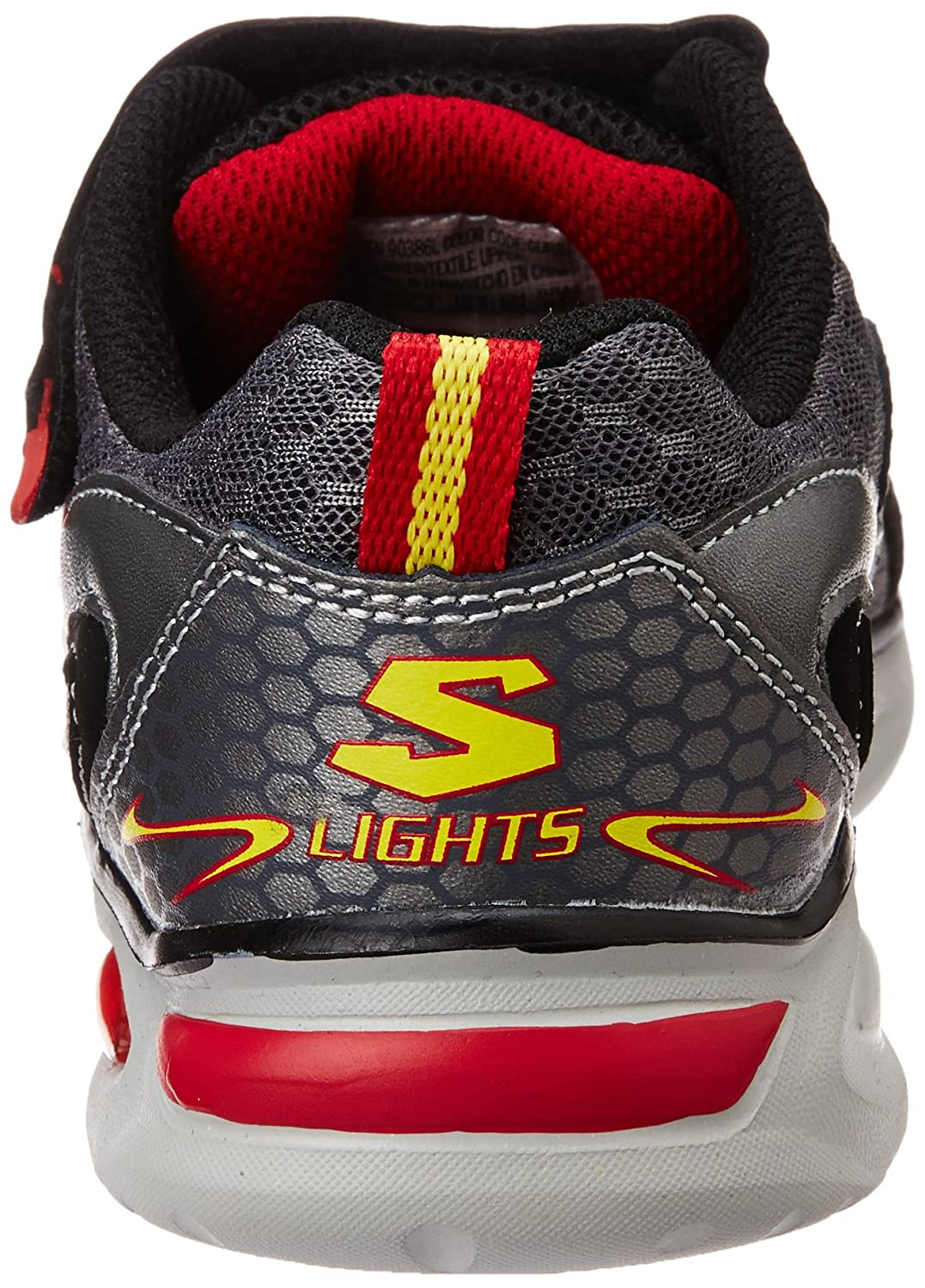 1fcc035375c8 Skechers Boy s Ipox - Rayz Gunmetal and Red Mesh Sports Shoes - 1 Kids  UK India(33.5 EU)(2 US)  Buy Online at Low Prices in India - Amazon.in