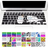 """Allytech Keyboard Cover Silicone Skin for MacBook Pro 13"""" 15"""" 17"""" (with or w/out Retina Display) iMac and MacBook Air 13"""" (Prety Cat with Blue Eyes)"""