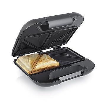 Princess 127001 – Sandwichera para 2 sándwiches, parrillas triangulares