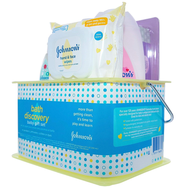 8f51c9b2fb2 Amazon.com  Johnson s Baby Johnson s Bath Discovery Baby Gift Set ...