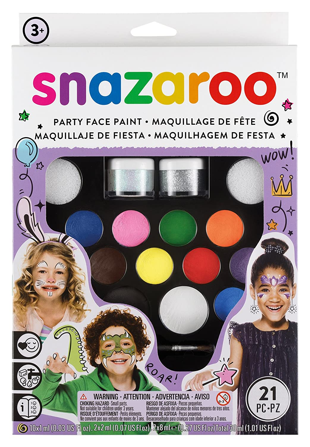 Amazon snazaroo face paint ultimate party pack toys games magicingreecefo Gallery