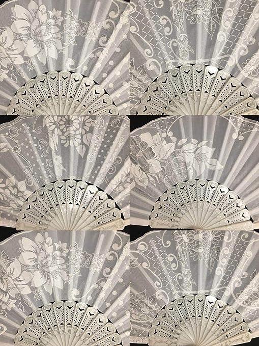 Amazon.com: CLGIFT Juego de 12 abanicos plegables de mano ...