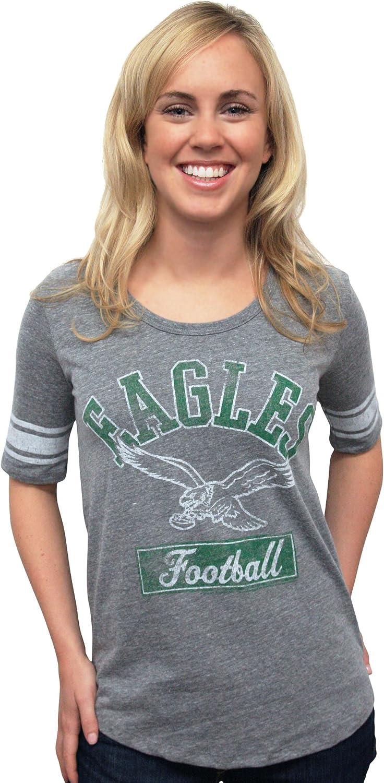 NFL Philadelphia Eagles Vintage Triblend Short Sleeve Crew Neck Tee Women's