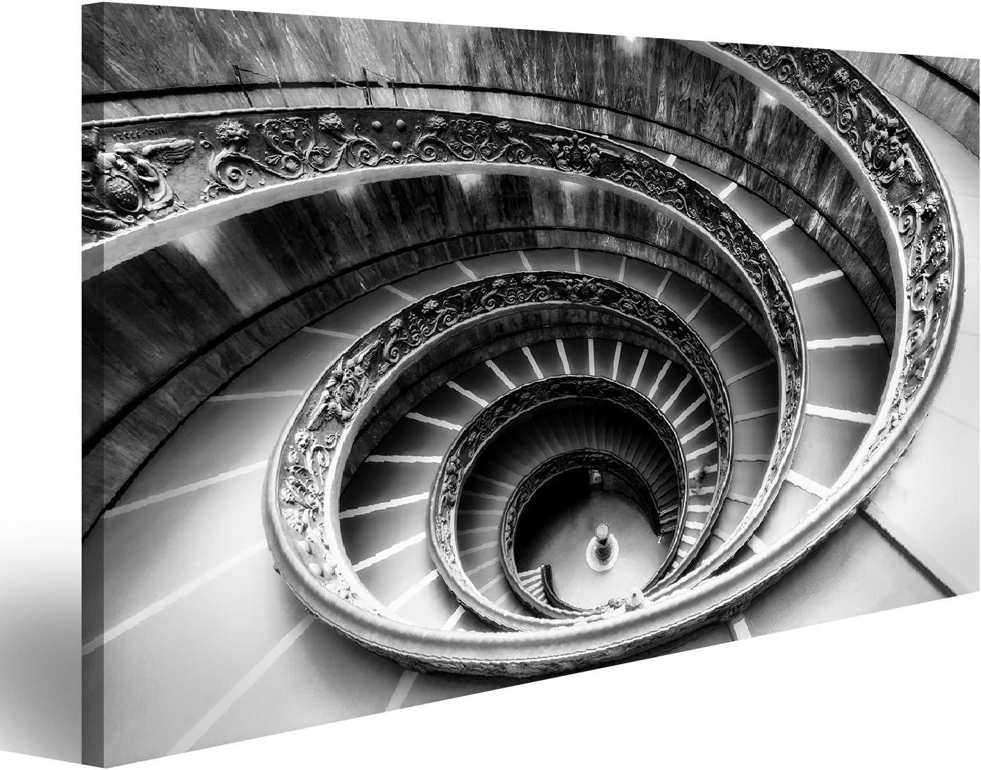 islandburner Cuadro Cuadros Famosa Escalera de Caracol en los Museos Vaticanos en Monocromo MDD: Amazon.es: Hogar