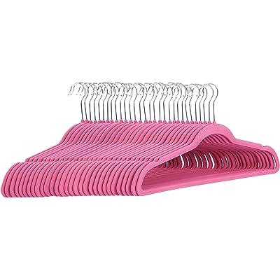 AmazonBasics - Perchas de terciopelo para trajes, color rosa, 30 unidades