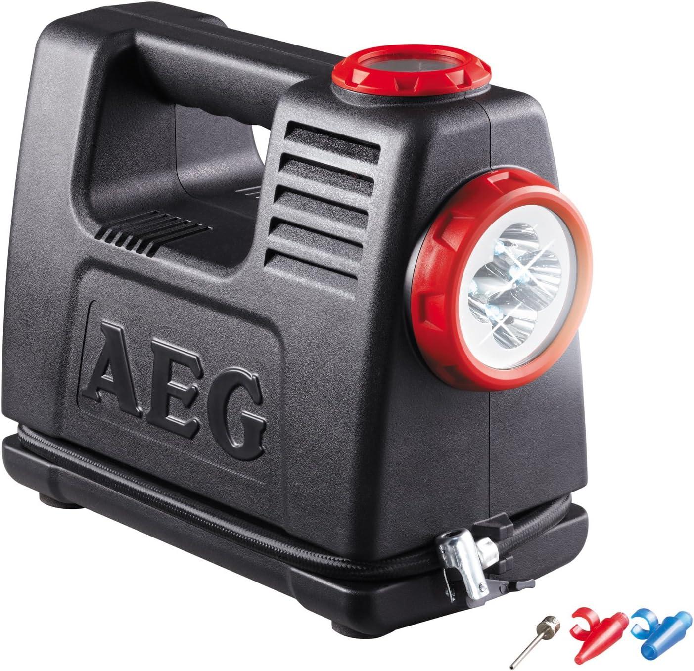 AEG 97180 Estación de aire y energís de batería LA 10, fuente de alimentación móvil con adaptador de 12 y 230 Voltios, máximo 10 bares