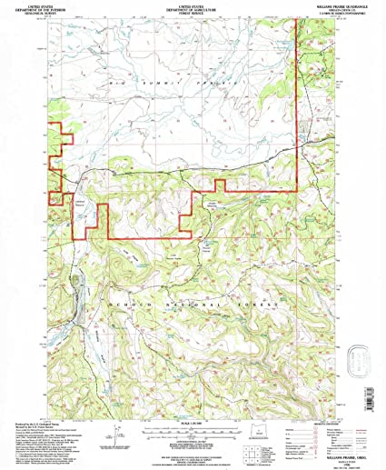 Amazon Com Yellowmaps Williams Prairie Or Topo Map 1 24000 Scale