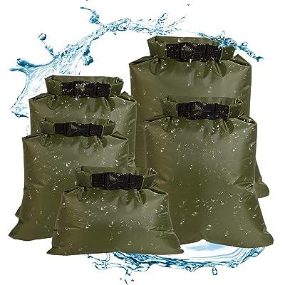3pcs 1.5//3//8 L Waterproof Dry Bag Outdoor Beach Storage Sack Travel Drifting Bag