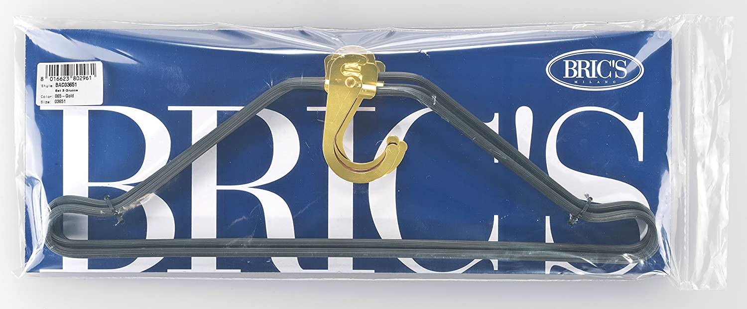 dda6d50a8 Amazon.com | Bric's Luggage Bac03651 Bellagio 3 Suiter Hanger Hook Set,  Gold, One Size | Travel Accessories