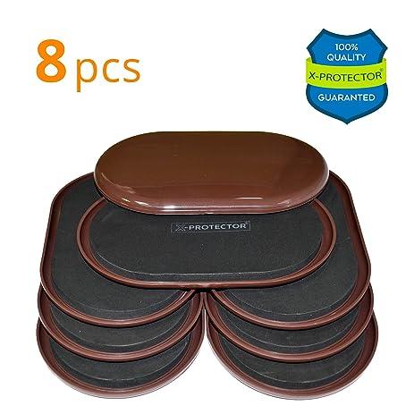 Furniture Sliders For Carpet X PROTECTOR U2013 8 Pcs HEAVY DUTY 9 1/
