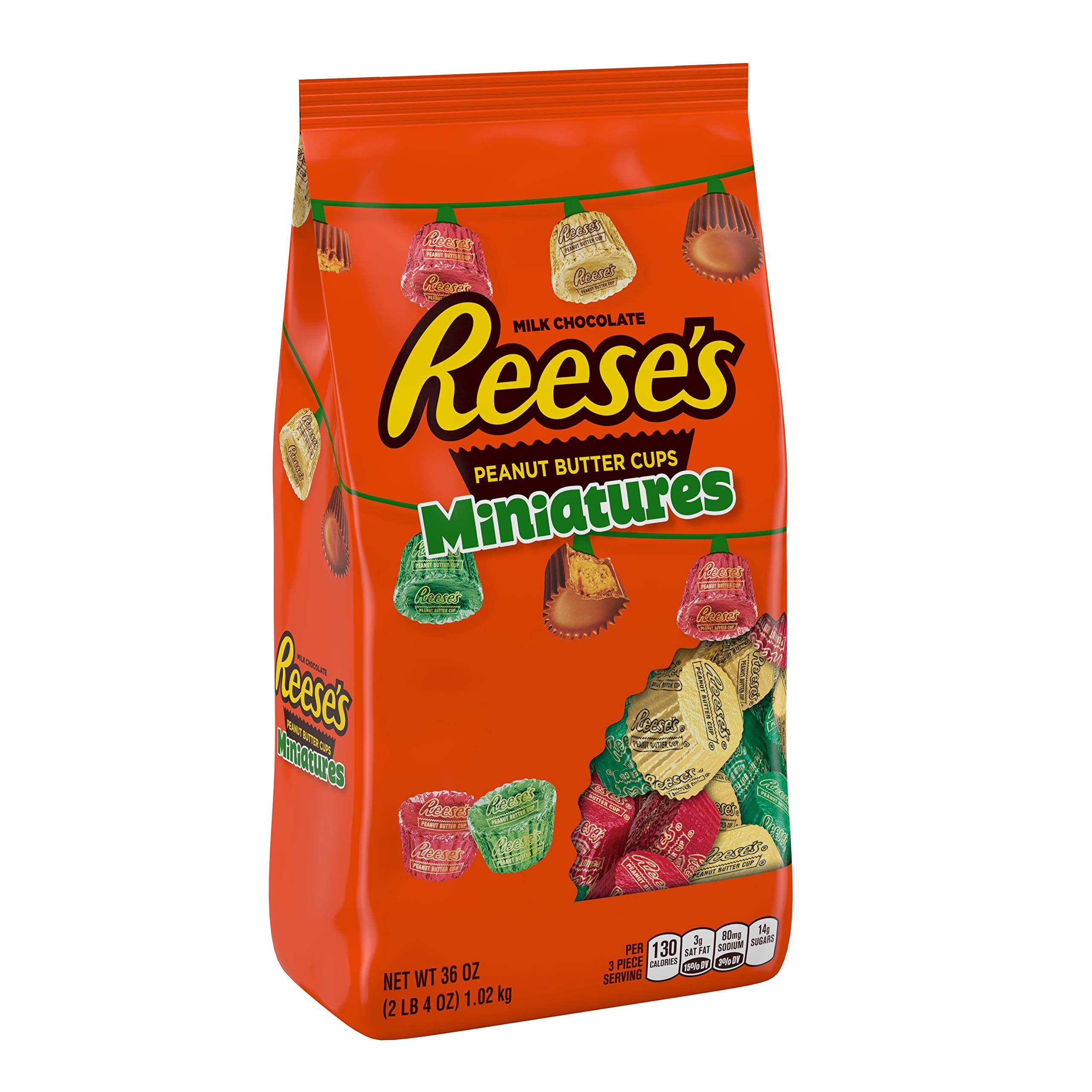 REESE'S Holiday Candy Peanut Butter Cup Miniatures 36 oz.