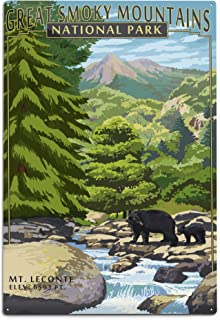 product image for Great Smoky Mountains National Park, Tennesseee, Leconte Creek and Mt. Leconte (12x18 Aluminum Wall Sign, Wall Decor Ready to Hang)