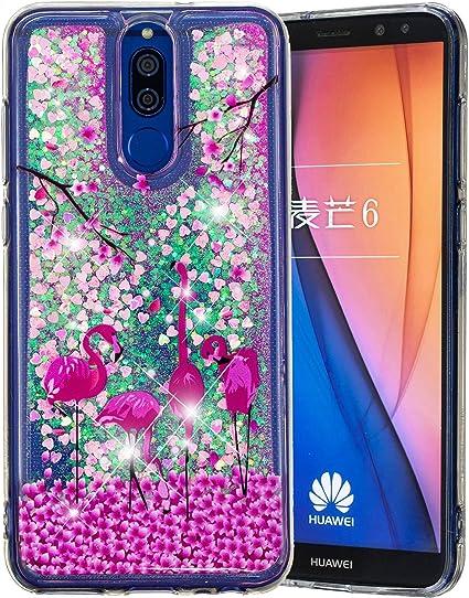 CaseLover ES Funda Huawei Mate 10 Lite, Bling Silicona TPU Arena Movediza Carcasa para Huawei Mate 10 Lite 5.9