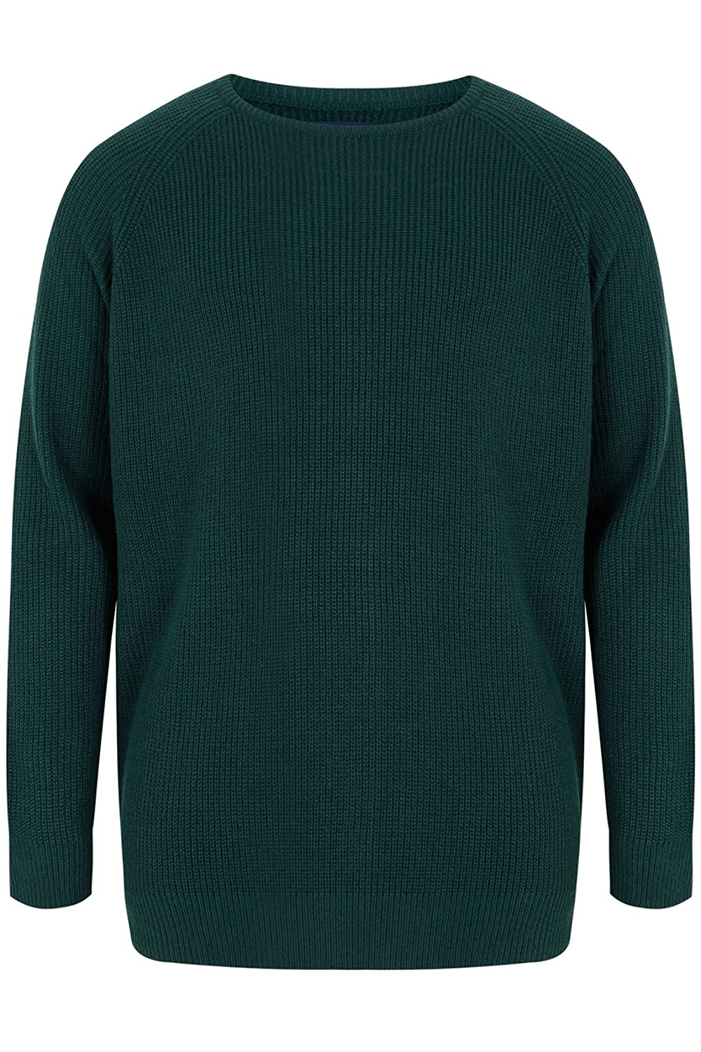 Yoursclothing Mens Crew Neck Rib Chunky Knit Jumper