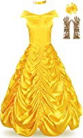 JerrisApparel Women's Princess Belle Costume Halloween Party Dress