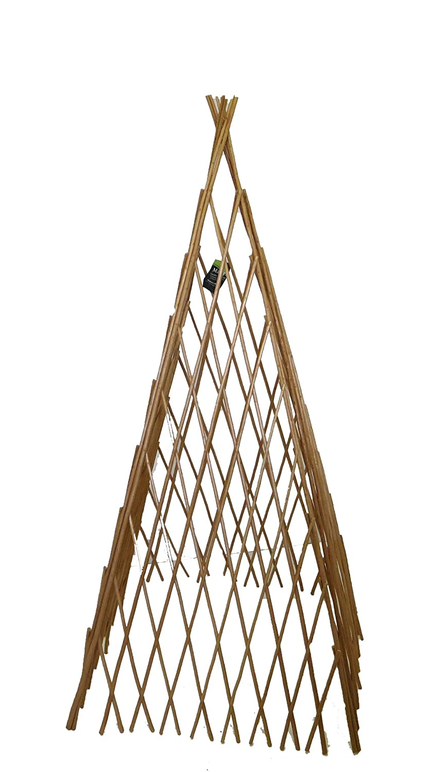 Master Garden Products Peeled Willow Expandable Teepee, 14 by 60-Inch