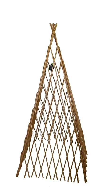 Master Garden Products Peeled Willow Expandable Teepee