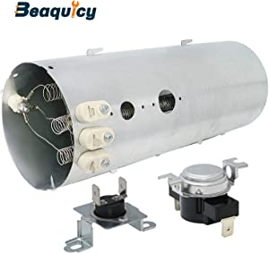 Beaquicy 134792700 Dryer Heating Element with 137032600 Thermal Fuse with 3204267 High Limit Safety Thermostat - Replacement for Crosley Electrolux Kenmore Dryer