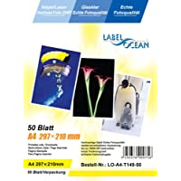 50 Blatt A4 Overheadfolie (OHP Transparentfolie Transparentpapier) für Inkjetdrucker Laserdrucker Tintenstrahldrucker Kopierer