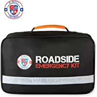 $49 » Always Prepared Premium Roadside Safety Assistance Kit - Car Emergency Kit with Jumper…