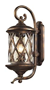 Artistic Lighting 42032/3 3-Light Outdoor Sconce In Hazelnut Bronze and Designer Water Glass